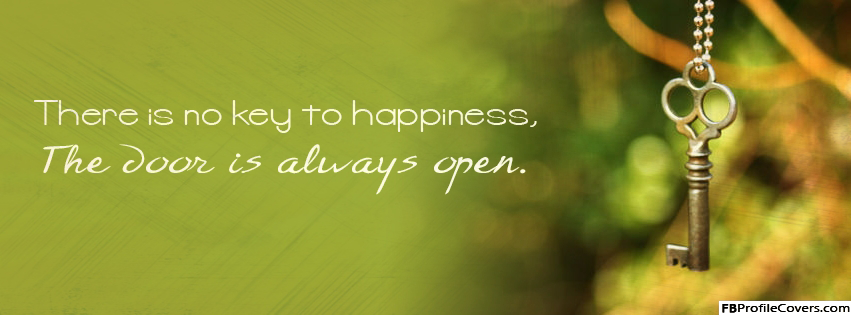 Key To Happiness Facebook Cover Image