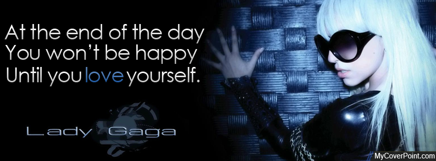 Lady Gaga At The End Of The Day Facebook Cover