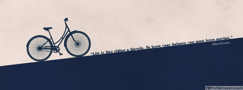 Life Is Like Bicycle Facebook Timeline Cover Image