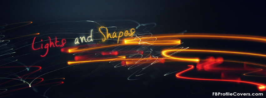 Lights and shapes Facebook Timeline Cover Pic