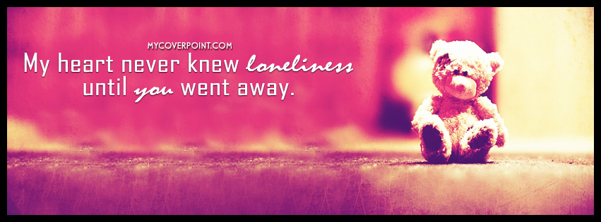 Loneliness Facebook Timeline Cover