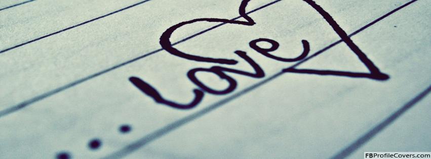 Love Heart Paper Ink Facebook Timeline Cover Image