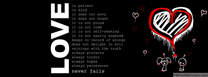 Love Never Fails Facebook Timeline Cover