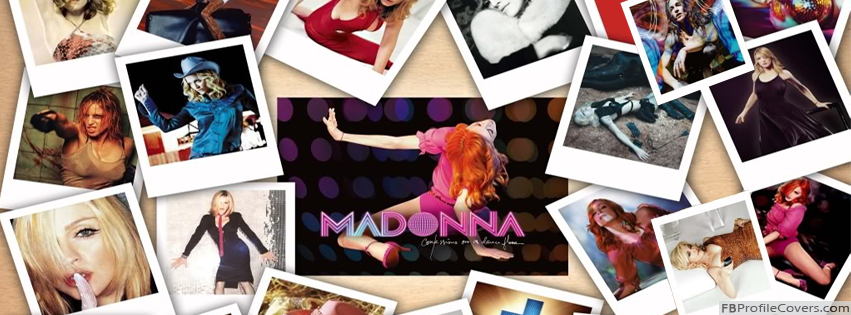Madonna Collage Cover Photo For Facebook Timeline Profile