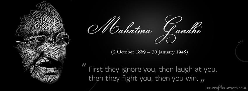 Mahatma Gandhi Facebook Timeline Cover Image