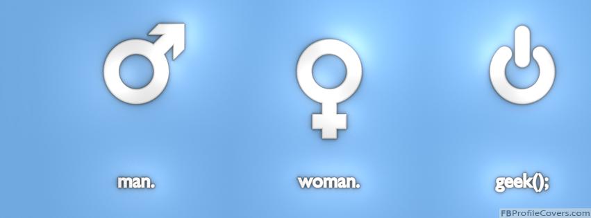 Man Woman Geek Facebook Timeline Cover Photo - FB timeline banner