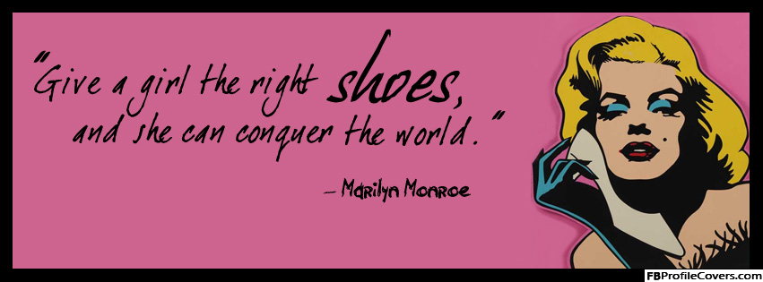 Marilyn Monroe Quote FB Timeline Cover