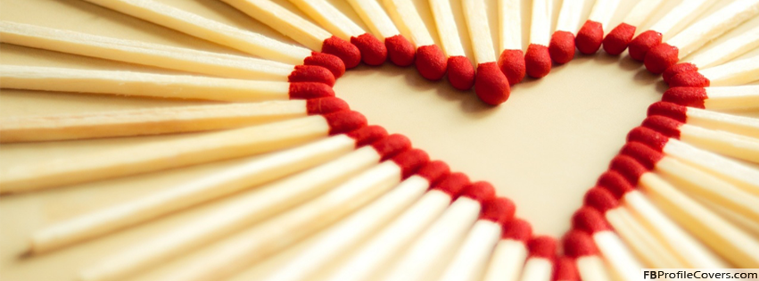 Matchsticks Heart Facebook Timeline Cover