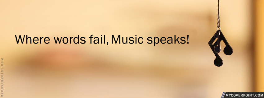 Music Speaks Facebook Cover - Facebook Timeline Cover