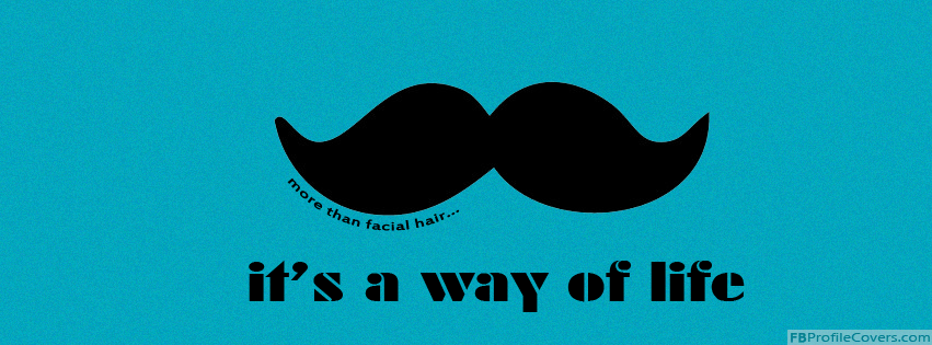 Mustache Facebook Timeline Profile Cover Image FB Cover