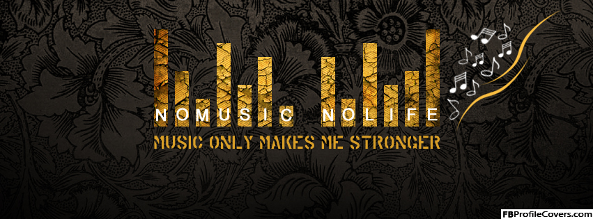No Music No Life Facebook Timeline Cover Image