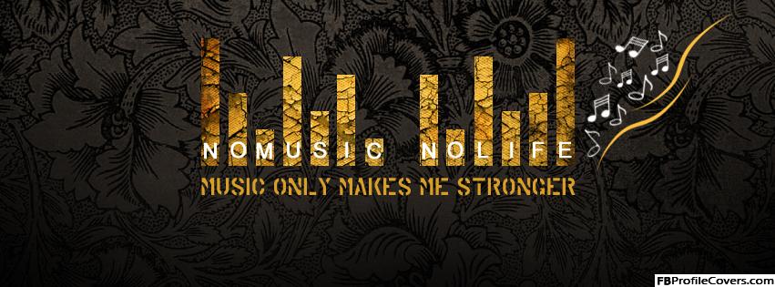 No Music No Life Facebook Timeline Cover Image