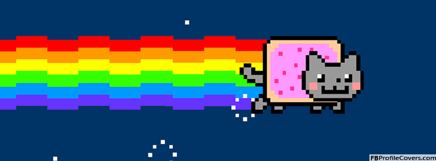 Nyan Cat Facebook Timeline Cover Photo