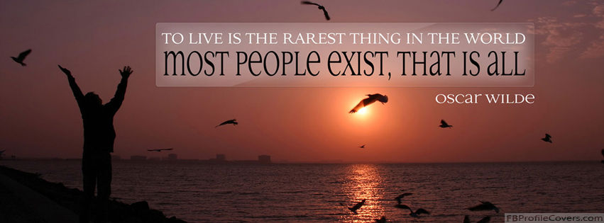 Oscar Wilde Quote Facebook Timeline Cover