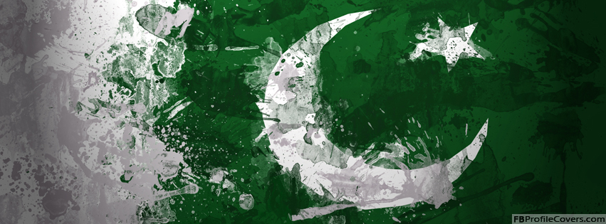 Pakistan Flag Facebook Timeline Profile Cover Photo
