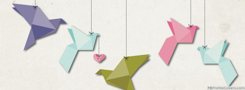 Paper Origami Birds Facebook Timeline Cover Photo
