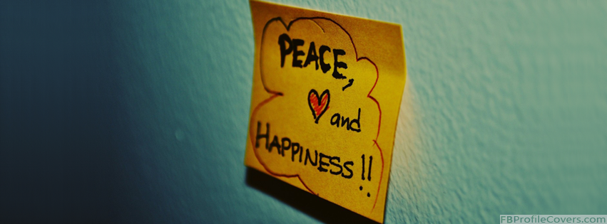 Peace And Happiness Facebook Cover