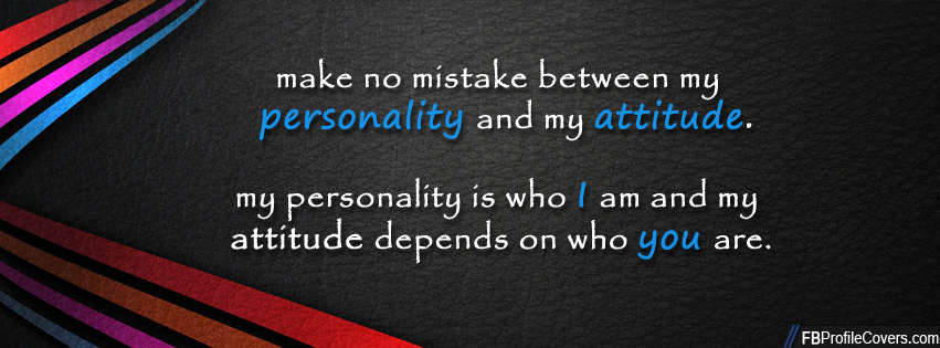 Personality And Attitude Facebook Cover