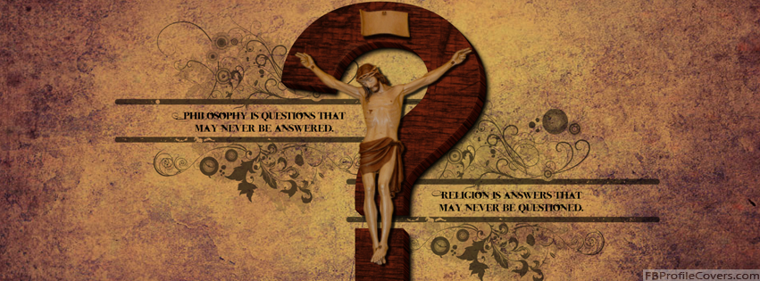 Philosophy VS Religion Facebook Cover