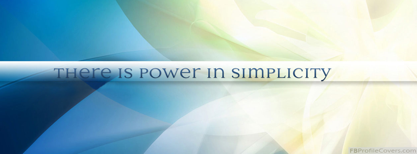Power In Simplicity Facebook Cover