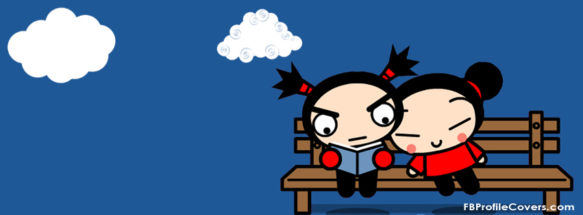 Pucca and Garu Facebook Timeline cover photo