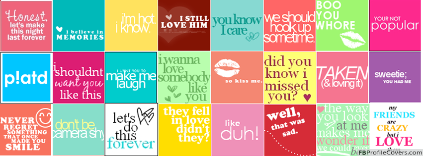 Quotes Collage Facebook Timeline Profile Cover Photo - FB Collage Timeline Cover Image