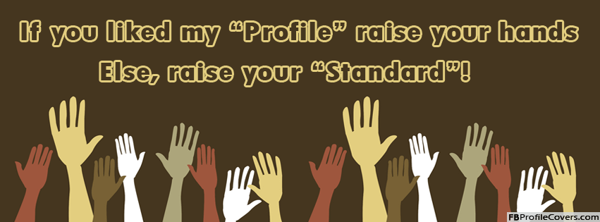 Raise Your Hands Facebook Cover Picture For Timeline Profile Banners