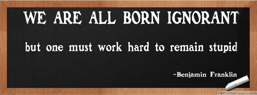 Remain Stupid Quote Facebook Timeline Profile Cover Photo