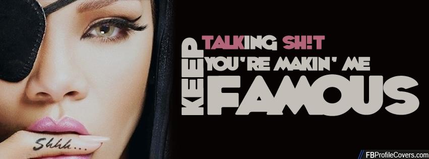 Rihanna Talk That Talk Facebook Cover