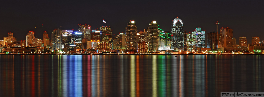 San Diego Night View Facebook Timeline Cover