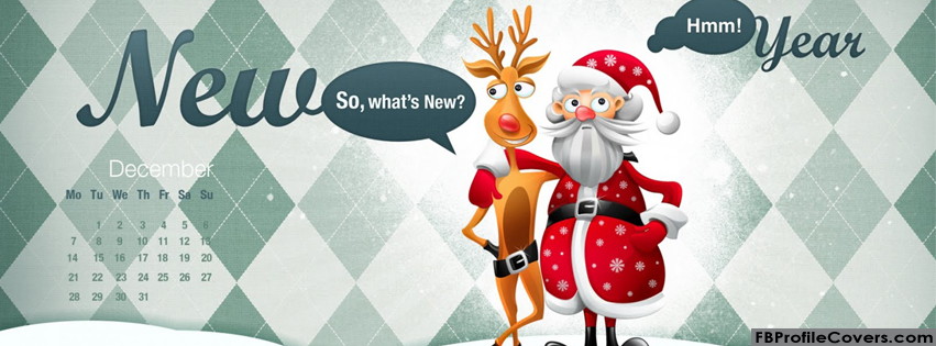 Santa And New Year Facebook Timeline Cover photo