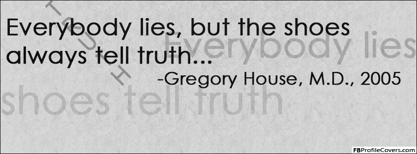 Shoes Always Tell The Truth Facebook Timeline Cover