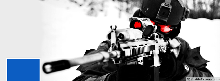 Sniper Facebook Timeline Profile Cover Banner Photo Army FB Covers