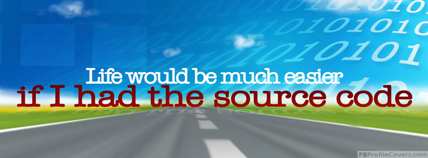 Source Code Of Life Facebook Cover