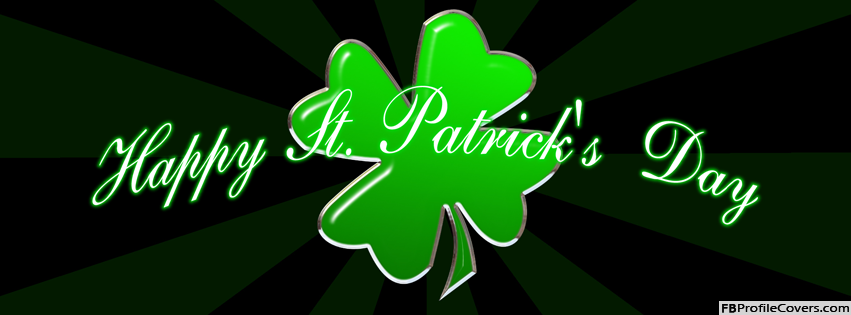 St Patrick's Day Facebook Cover Image For Timeline