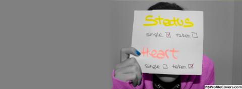 Status Single Heart Taken
