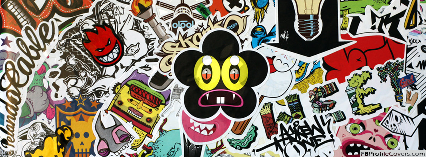 Stickers Art Facebook Timeline Profile Cover Photo