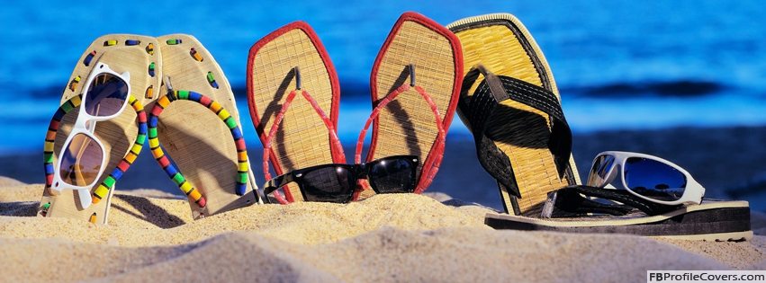 Sunglasses & Sandals Facebook Covers For Timeline