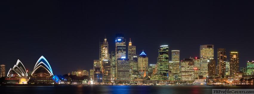 Sydney At Night Facebook Timeline Cover