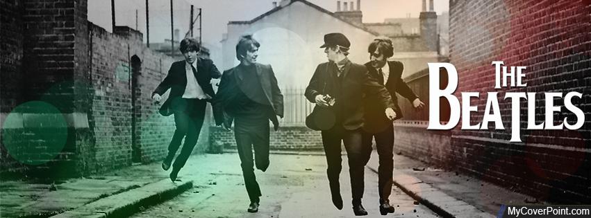 The Beatles Vintage Running Facebook Timeline Cover