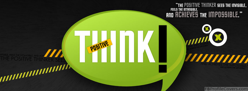 Think Positive Facebook Timeline Cover Photo