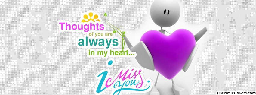 Thoughts Of You Facebook Timeline Cover