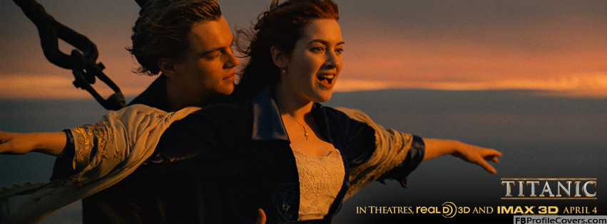 Titanic 3D I'm Flying Facebook Timeline Profile Cover Photo