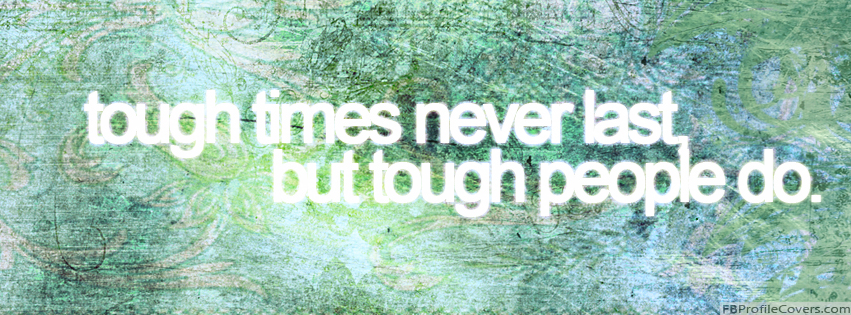 Tough People Quote Facebook Cover Photo