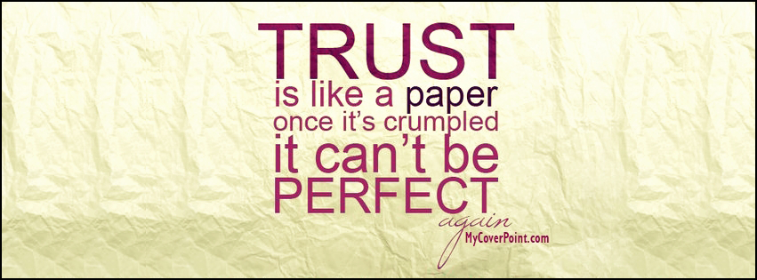Trust Is Like A Paper Timeline Cover