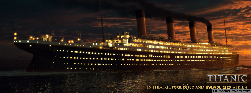 Unsinkable Ship At Night Titanic Facebook Timeline Cover