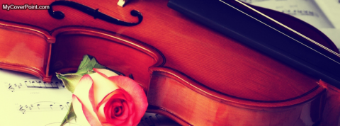 Violin And Red Rose