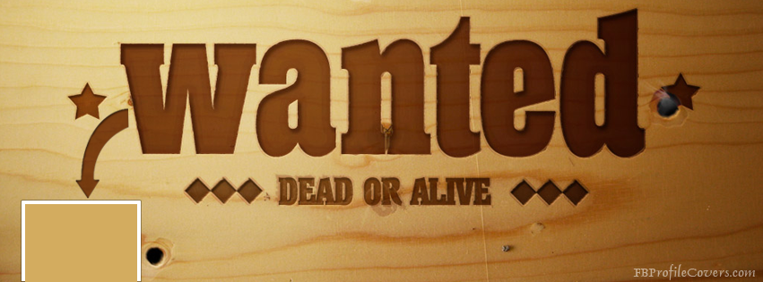 Wanted Facebook Timeline Cover Image
