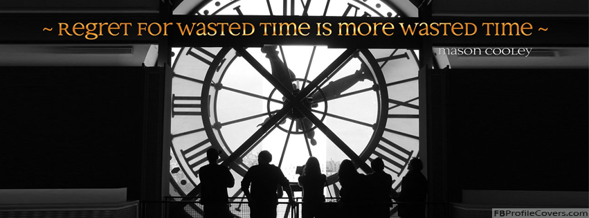 Wasted Time Facebook Cover Banner