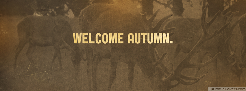 Welcome Autumn Facebook Timeline Profile Cover Pics